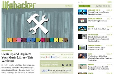 http://lifehacker.com/5909435/clean-up-and-organize-your-music-library-this-weekend