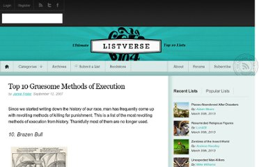 http://listverse.com/2007/09/12/top-10-gruesome-methods-of-execution/