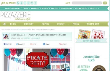 http://pizzazzerie.com/parties/childrens-parties/red-black-aqua-pirate-birthday-bash/