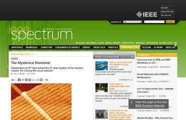 http://spectrum.ieee.org/semiconductors/design/the-mysterious-memristor