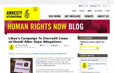 http://blog.amnestyusa.org/middle-east/libyas-campaign-to-discredit-eman-al-obeidi-after-rape-allegations/