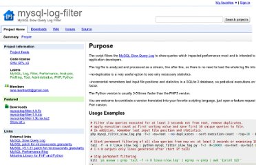 http://code.google.com/p/mysql-log-filter/