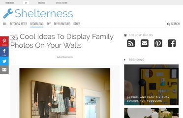 http://www.shelterness.com/25-cool-ideas-to-display-family-photos-on-your-walls/