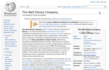 http://en.wikipedia.org/wiki/The_Walt_Disney_Company