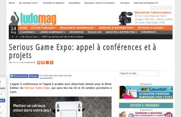 http://www.ludomag.com/2012/05/serious-game-expo-appel-a-conferences-et-a-projets/