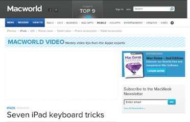 http://www.macworld.com/article/1166748/seven_ipad_keyboard_tricks.html