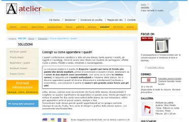http://www.atelieronline.it/come_appendere_quadri.php