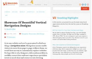 http://www.smashingmagazine.com/2010/04/19/showcase-of-beautiful-vertical-navigation-designs/