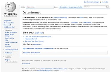 http://de.wikipedia.org/wiki/Datenformat