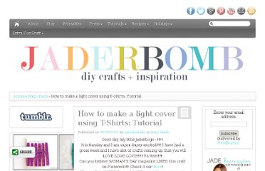 http://jaderbomb.com/2012/05/06/how-to-make-a-light-cover-using-t-shirts-tutorial/