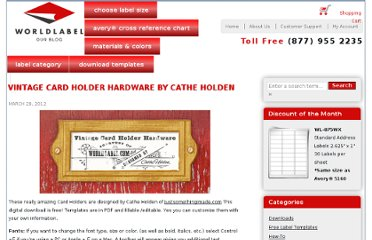 http://blog.worldlabel.com/2012/vintage-card-holder-hardware-by-cathe-holden.html