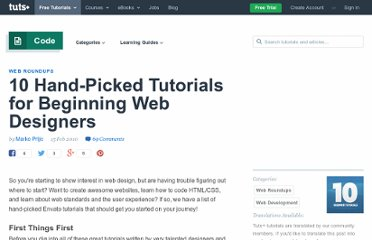 http://net.tutsplus.com/articles/web-roundups/10-hand-picked-tutorials-for-beginning-web-designers/