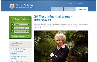 http://www.superscholar.org/features/20-most-influential-women-intellectuals/