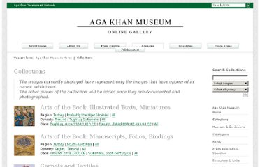 http://www.akdn.org/museum/collections.asp