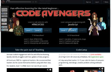 http://www.codeavengers.com/training#1.1