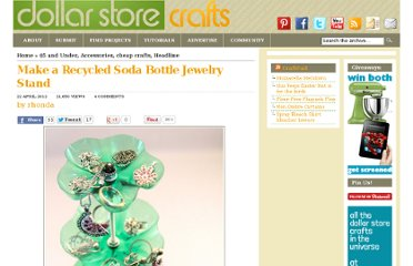 http://dollarstorecrafts.com/2012/04/make-a-recycled-soda-bottle-jewelry-stand/