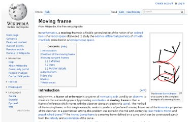 http://en.wikipedia.org/wiki/Moving_frame