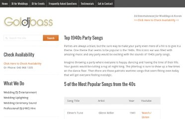 http://playlists.com.au/top-1940s-party-songs/