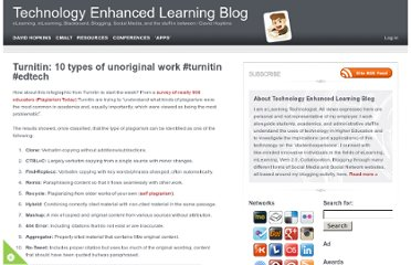http://www.dontwasteyourtime.co.uk/elearning/turnitin-10-types-of-unoriginal-work-turnitin-edtech/