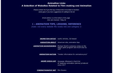 http://www.animationpost.co.uk/novice_notes/animation-links.htm