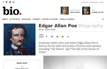 http://www.biography.com/people/edgar-allan-poe-9443160