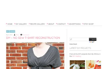 http://bywilma.com/2012/05/08/diy-no-sew-t-shirt-reconstruction/