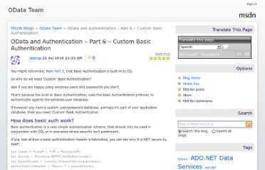 http://blogs.msdn.com/b/astoriateam/archive/2010/07/21/odata-and-authentication-part-6-custom-basic-authentication.aspx