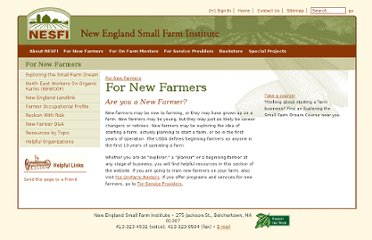 http://www.smallfarm.org/main/for_new_farmers/