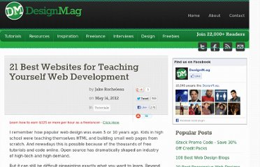 http://designm.ag/tutorials/21-best-websites-for-teaching-yourself-web-development/