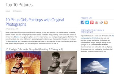 http://www.toptenzpictures.com/10-pinup-girls-paintings-with-orginial-photographs/