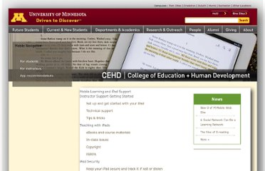 http://academics.cehd.umn.edu/mobile/