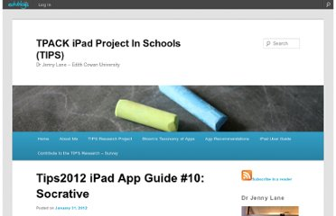 http://tips2012.edublogs.org/2012/01/31/ipad-app-guide-10-socrative/