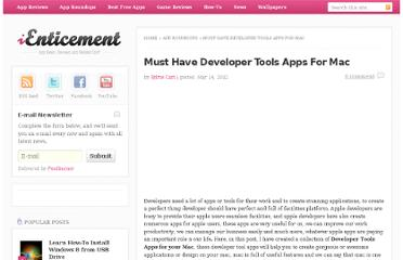 http://www.ienticement.com/app-roundups/must-have-developer-tools-apps-for-mac/