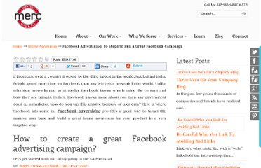 http://mercstrategy.com/facebook-advertising-10-steps-to-run-a-great-facebook-campaign/