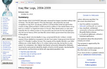 http://mirror.wikileaks.info/wiki/Iraq_War_Logs,_2004-2009/