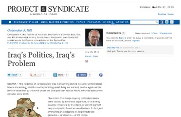 http://www.project-syndicate.org/commentary/iraq-s-politics--iraq-s-problem