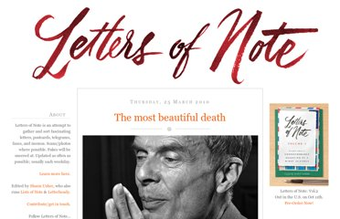 http://www.lettersofnote.com/2010/03/most-beautiful-death.html
