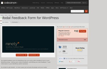 http://codecanyon.net/item/modal-feedback-form-for-wordpress/154674