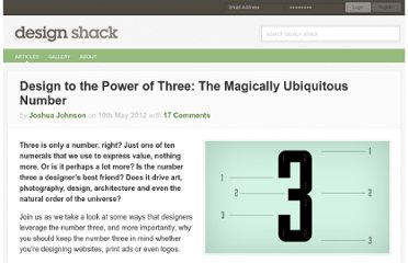 http://designshack.net/articles/layouts/design-to-the-power-of-three-the-magically-ubiquitous-number/