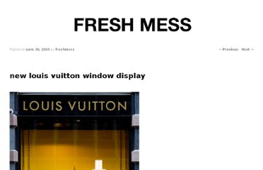http://www.freshmess.com/2010/06/new-louis-vuitton-window-display/