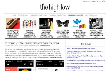 http://thehighlow.com/2012/05/the-top-5-new-free-iphone-fashion-apps/