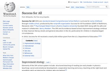 http://en.wikipedia.org/wiki/Success_for_All