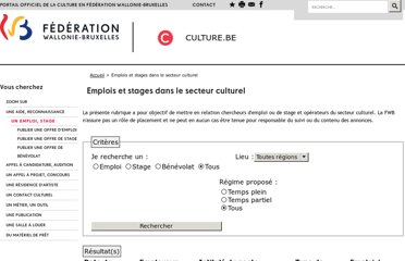 http://www.culture.be/index.php?id=emploi_stage