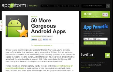 http://android.appstorm.net/roundups/more-gorgeous-android-apps/