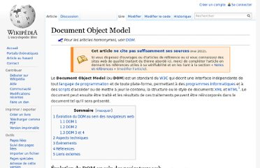 http://fr.wikipedia.org/wiki/Document_Object_Model
