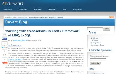 http://blogs.devart.com/dotconnect/transactions-in-entity-framework-and-linq-to-sql.html