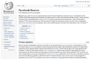 http://en.wikipedia.org/wiki/Facebook_Beacon