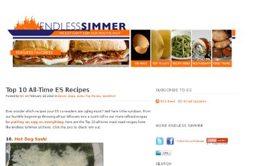 http://www.endlesssimmer.com/2010/02/18/top-10-all-time-es-recipes/