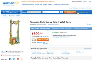 http://www.walmart.com/ip/Teamson-Kids-Sunny-Safari-Valet-Rack/17113390#Specifications