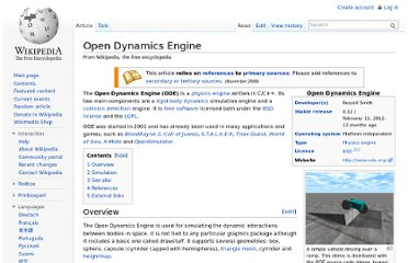 http://en.wikipedia.org/wiki/Open_Dynamics_Engine